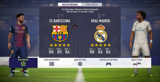 En İyi PS4 Oyunları FIFA 18