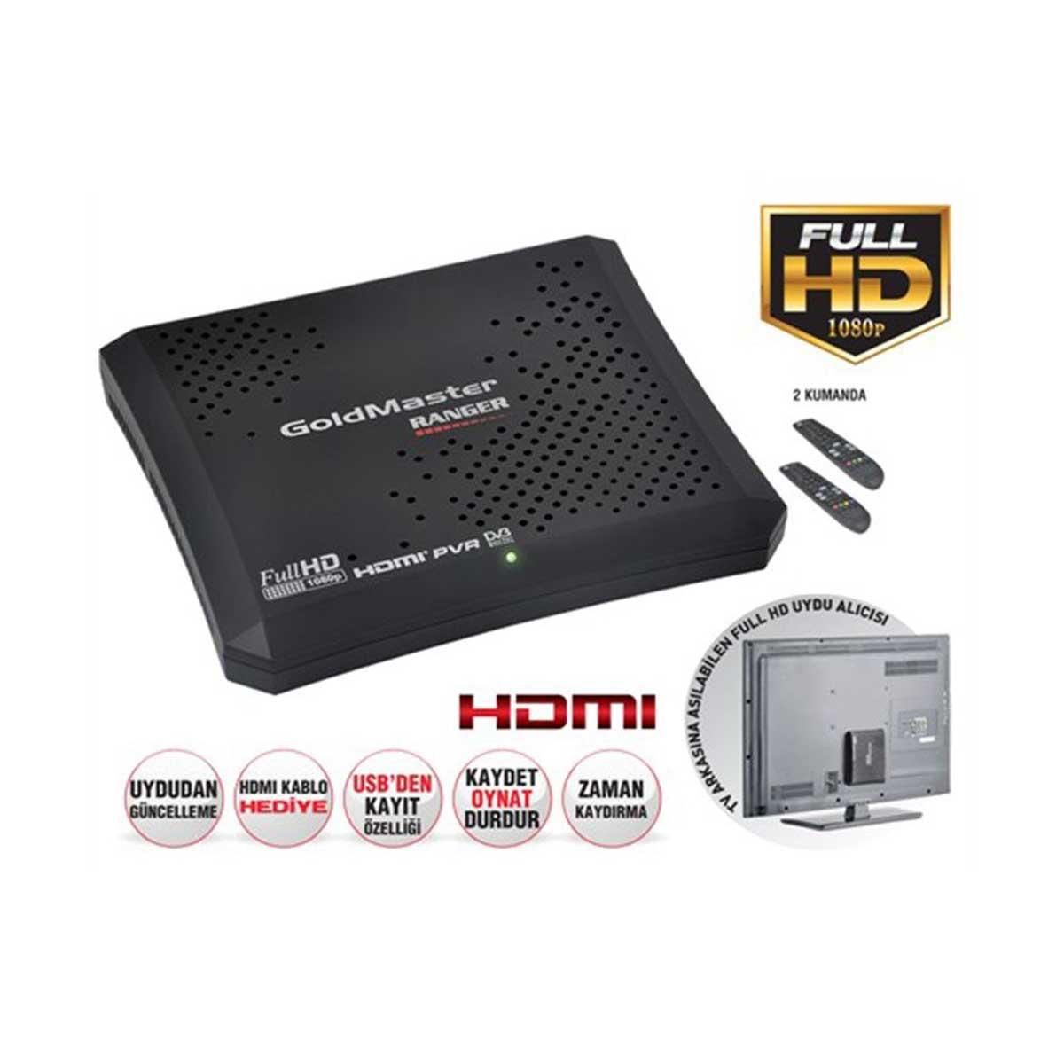 Goldmaster Ranger HD Plus Dijital Uydu Alıcısı