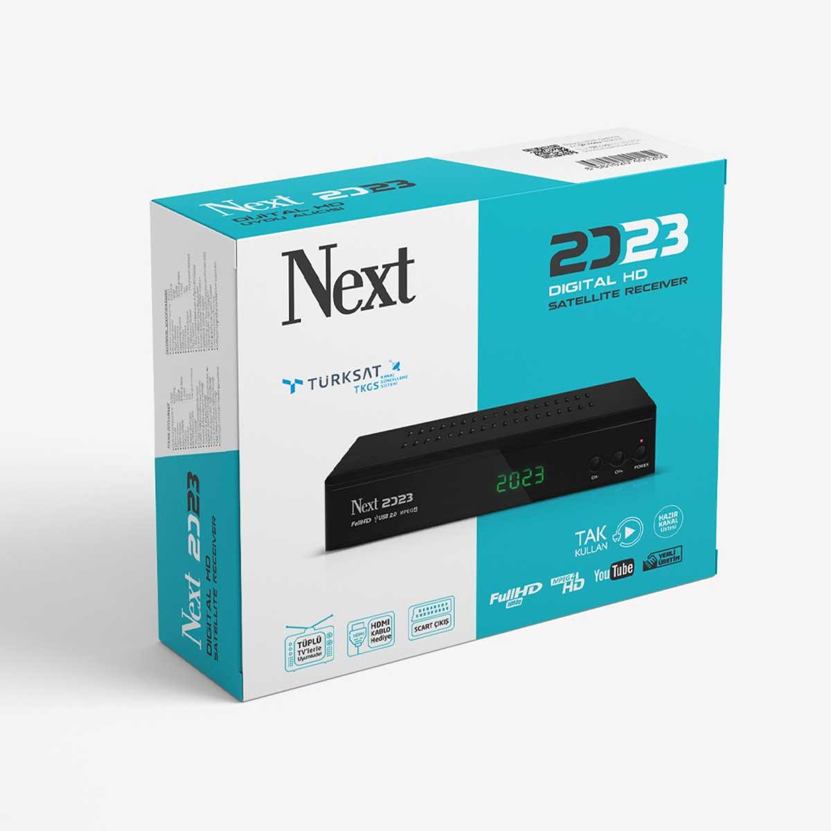 Next 2023 Full HD H.265 Dijital Uydu Alıcı