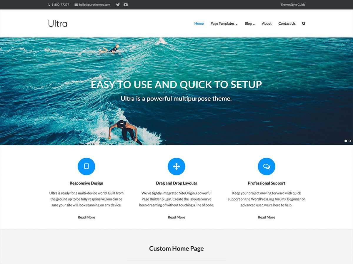 Ultra WP Tema